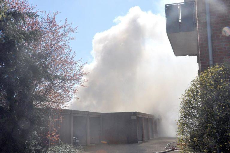 Schuppen brannte an der Schillerstraße