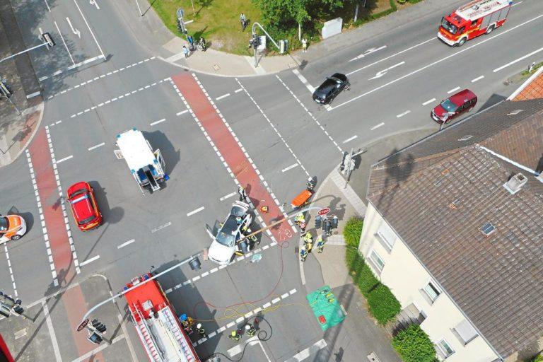 Verkehrsunfall auf der Kreuzung Eper Straße / Hermann-Ehlers Straße