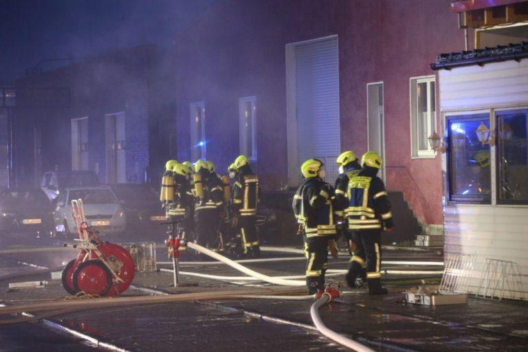 Lagerhalle an der Königstraße brannte