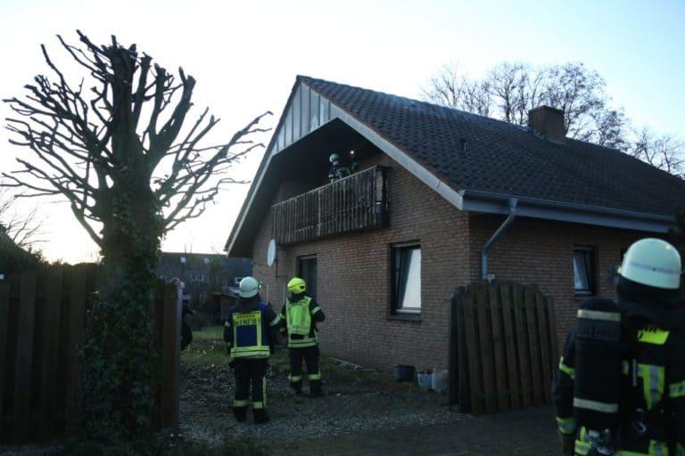 Brand auf Balkon in der Weidenstraße
